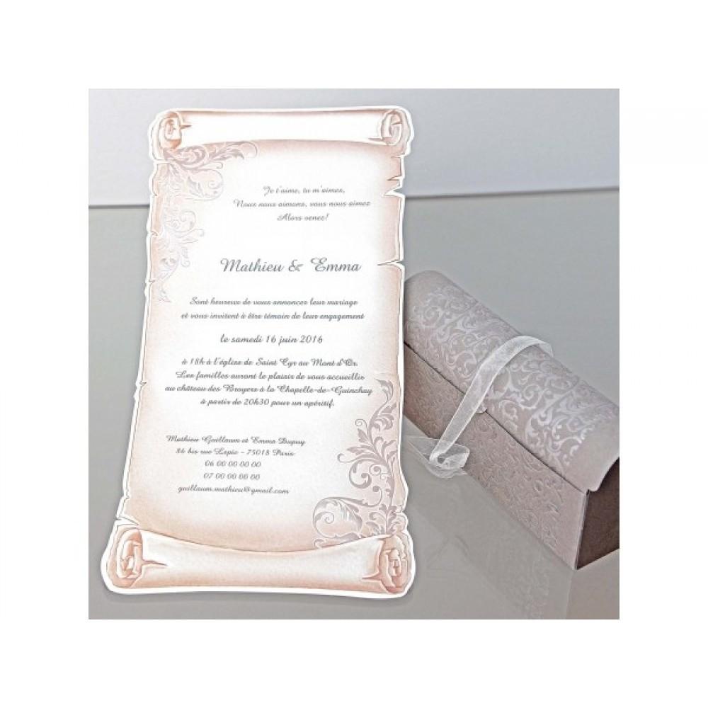 Invitatie De Nunta Deosebita Tip Papirus In Cufar Pretios