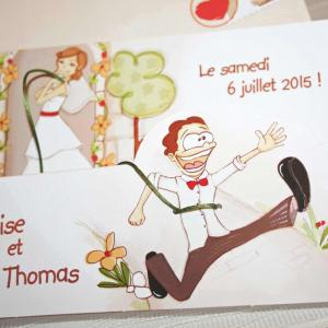 Invitatie nunta cu imagini haioase