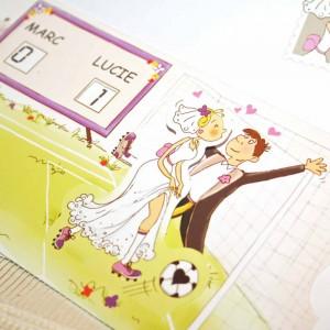 Invitatie nunta pentru iubitorii de fotbal
