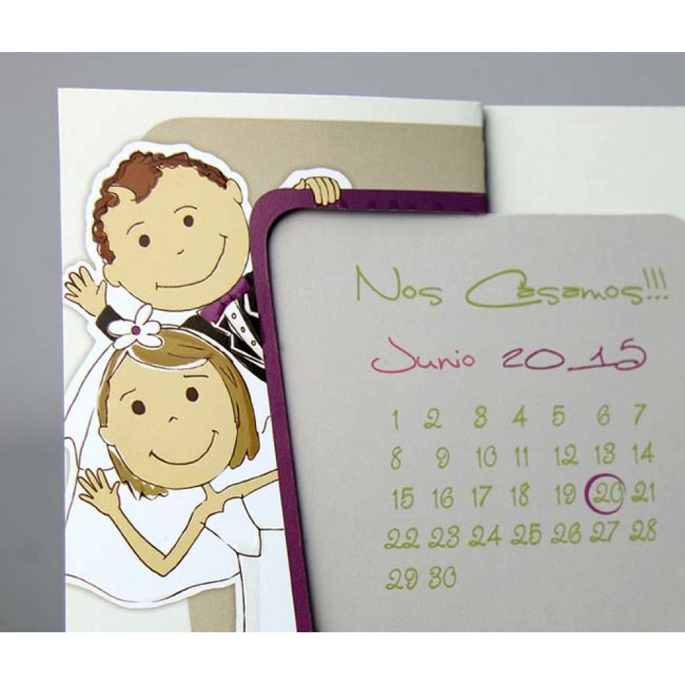 Invitatie cu imagine calendar