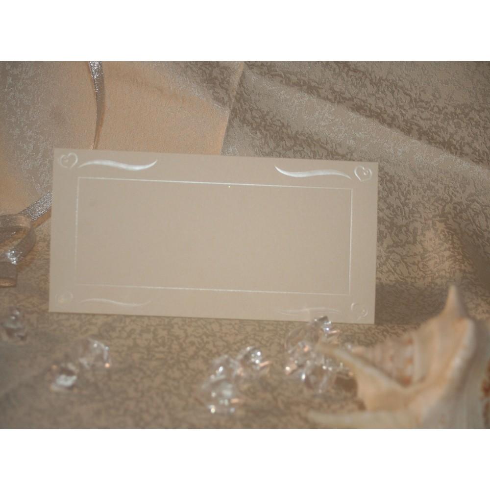 Card pentru masa cu insertii crem