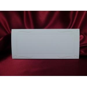 Card pentru masa alb mat cu insertii crem