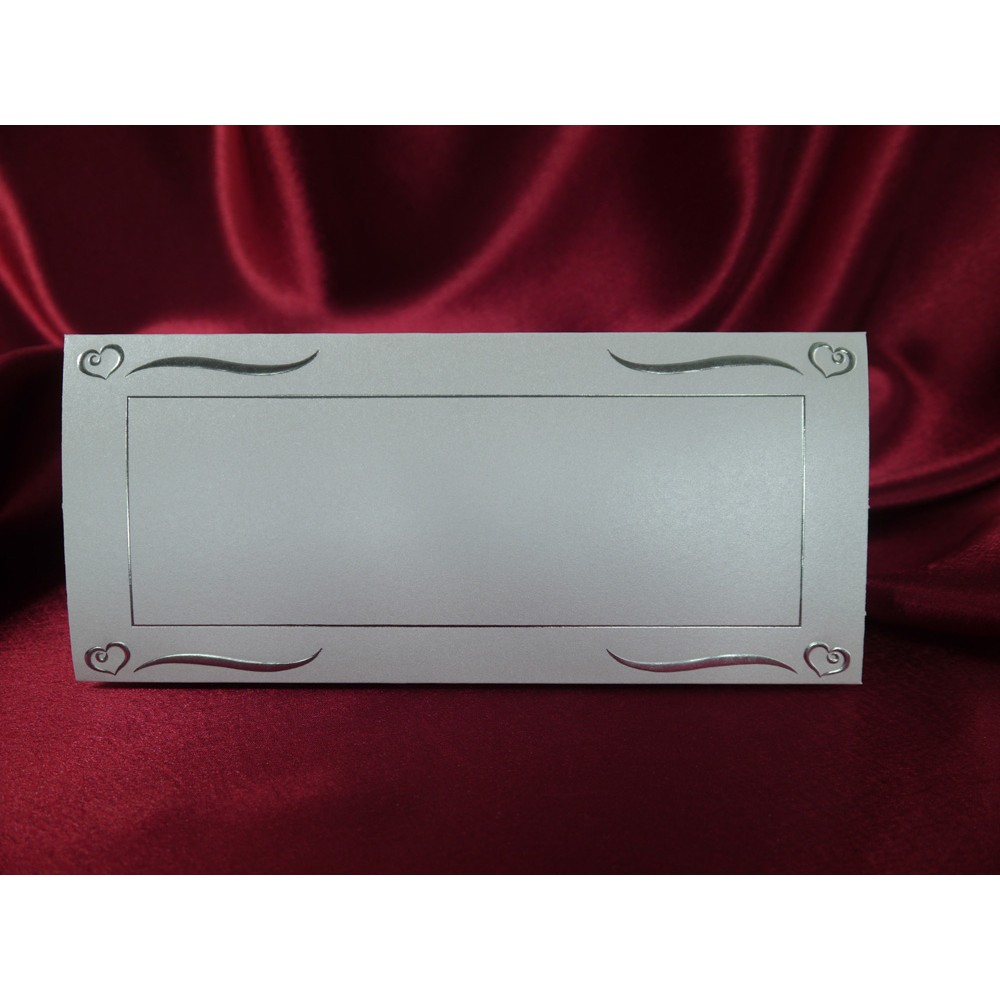 Card pentru masa argintiu sidefat