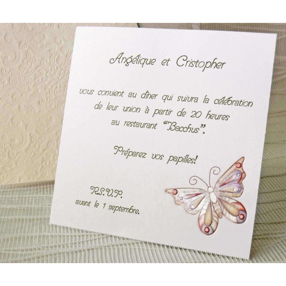 Invitatie cu inchidere in forma de fluturas