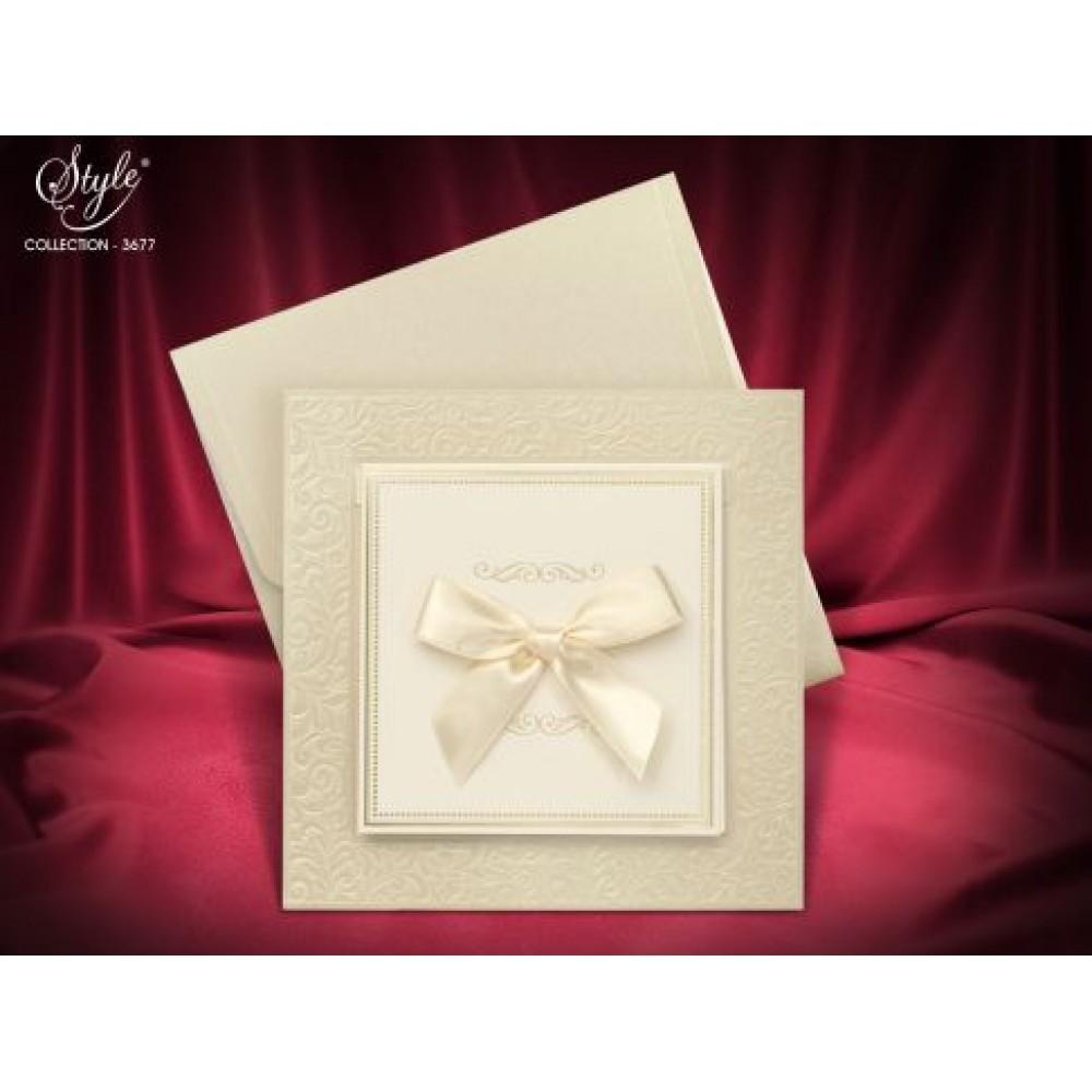 Invitatie tip rama cu model floral elegant
